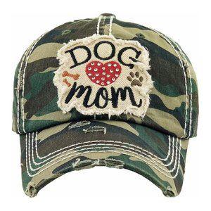 NWT    BOUTIQUE ITEM     DOG MOM CAMO HAT